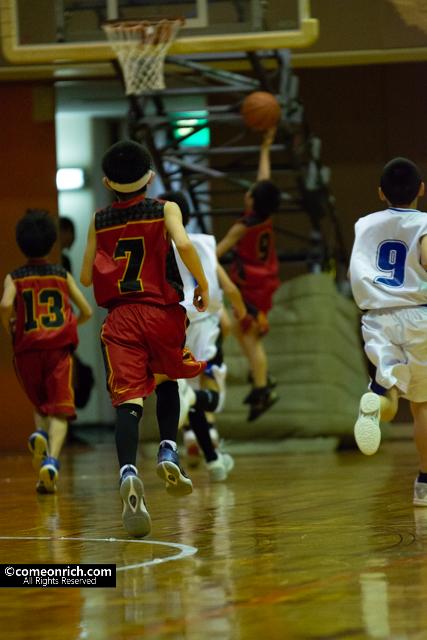 バスケットボール撮影の設定とレンズ