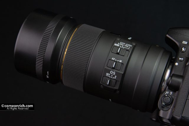 シグマ SIGMA 単焦点マクロレンズ MACRO 105mm F2.8 EX DG OS HSM