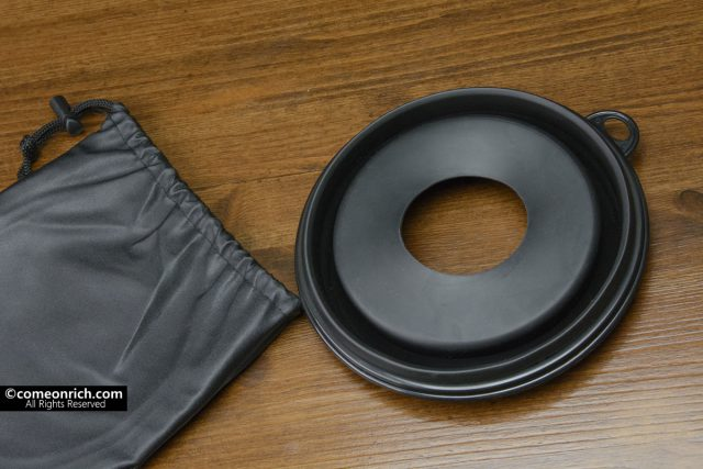 Anti-reflective dustproof lens hood